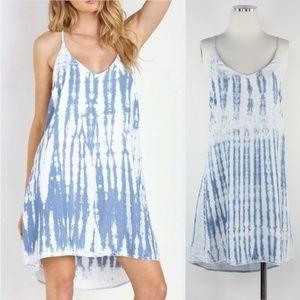 Cloth & Stone Anthro Tie Dye Racerback Strap Dress
